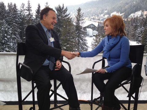 Liz Claman interviews real estate entrepreneur Jeff Greene