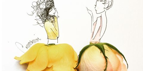 Yellow, Produce, Natural foods, Chest, Illustration, Drawing, Line art, Still life photography, Whole food, Stomach,