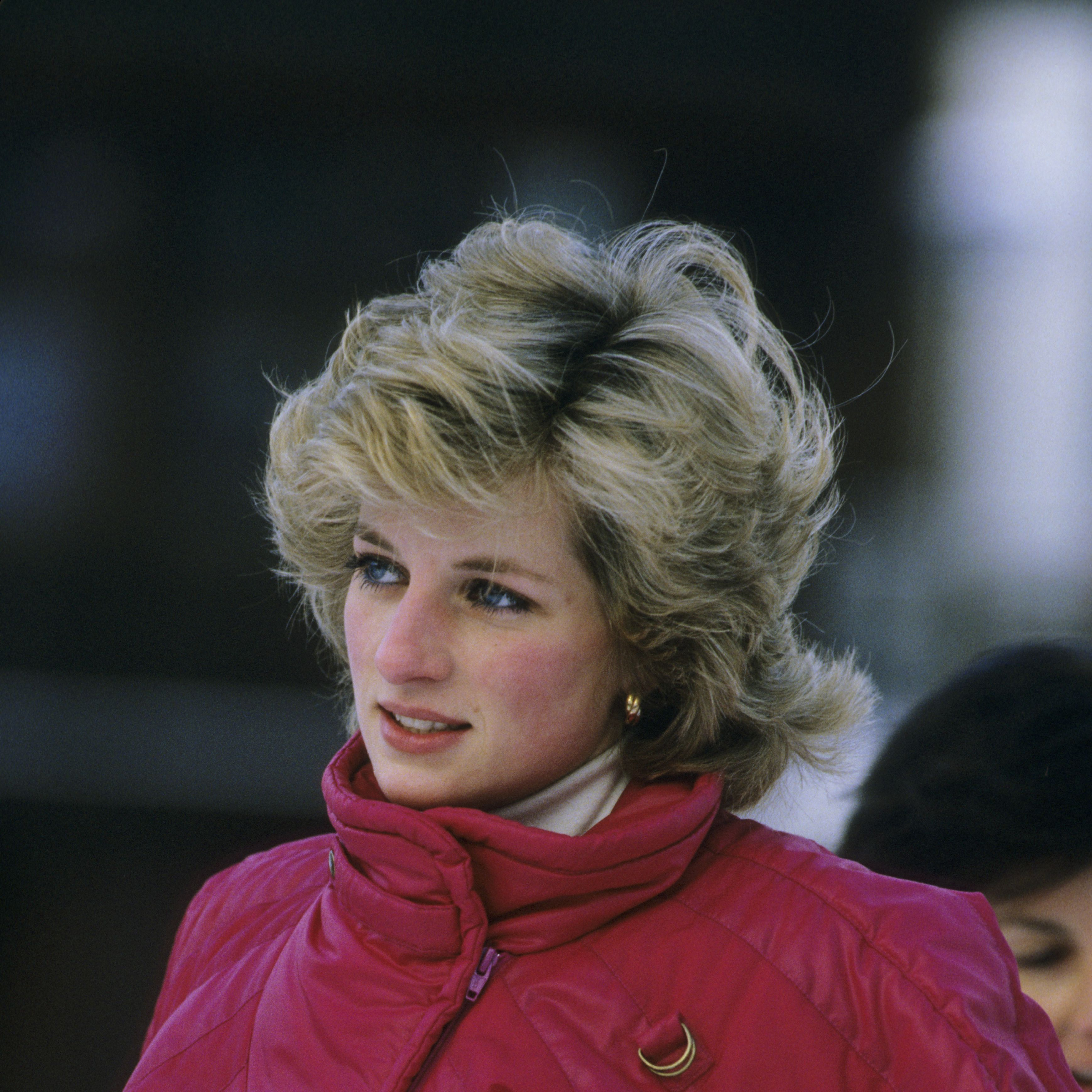 Princess Diana (1961 - 1997) during a skiing holiday in Liechtenstein on January 24, 1985  (Photo by Georges DeKeerle/Getty Images)