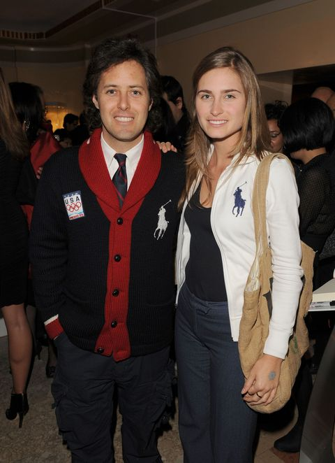David Lauren and Lauren Bush Lauren in Polo.