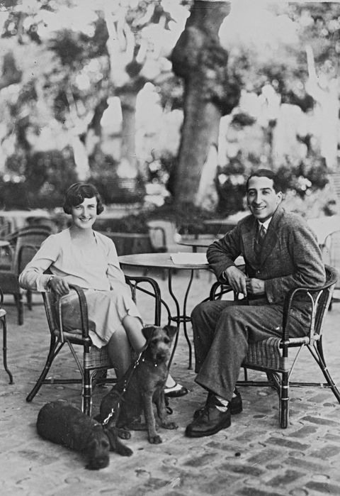 René Lacoste and Simone de la Chaume in France.
