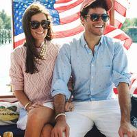 Kiel James Patrick and Sarah Vickers on a yacht.