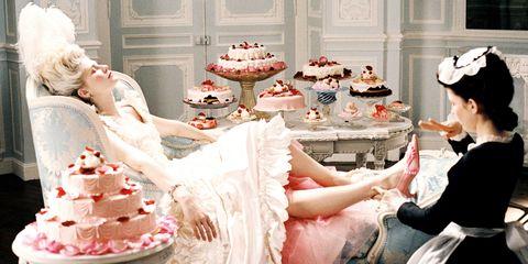 Sweetness, Cuisine, Food, Cake, Dessert, Baked goods, Pink, Ingredient, Cake decorating, Dress,