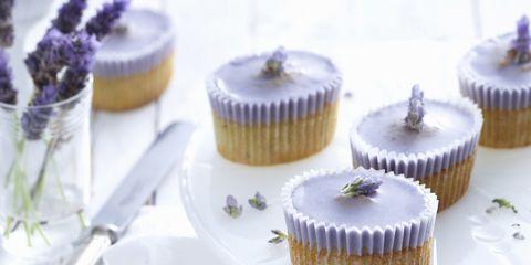 Food, Cuisine, Serveware, Dishware, Sweetness, Dessert, Ingredient, Baked goods, Cake, Purple,