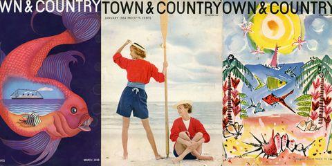 Human, Art, Illustration, Poster, Holiday, Fiction, Fish, Painting, Creative arts, People on beach,