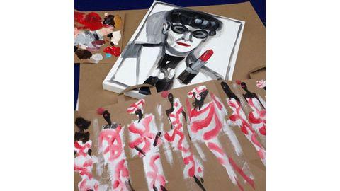 Carmine, Supervillain, Goggles, Paint, Painting, Creative arts, Fictional character,
