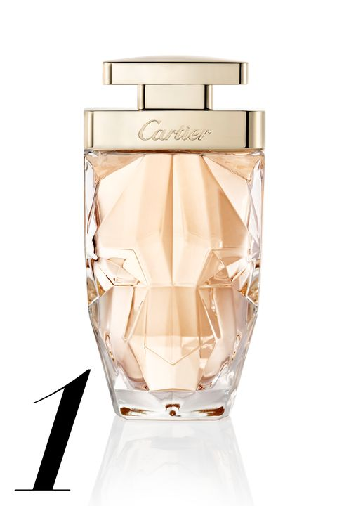 """<strong>The notes:</strong> chypre, musk, gardenia, tiare flower, monoi,&nbsp;vanilla essence  <strong>It smells like:</strong>&nbsp;Powdery, bright and musky all at once, it's the fragrance your most sophisticated aunt, the world traveler with expensive taste, would wear.  <em><strong>Cartier </strong>La Panthère Eau de Parfum Légère, $128, available at <a href=""""http://www.cartier.us/collections/fragrances/womens-fragrances/la-panthere"""">cartier.com</a>.</em>"""