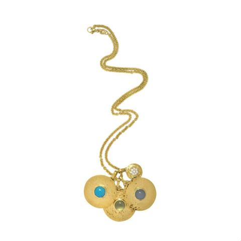 Yellow, Earrings, Font, Pattern, Jewellery, Tan, Metal, Body jewelry, Circle, Chain,