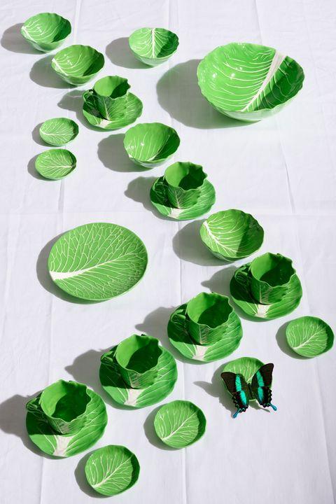 Green, Leaf, Natural material, Circle, Design,