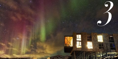 Aurora, Green, Atmosphere, Atmospheric phenomenon, Night, Space, Astronomical object, Purple, Star, Astronomy,