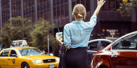 Land vehicle, Vehicle, Car, Headlamp, Hood, Street fashion, Blond, Full-size car, Taxi, Mid-size car,