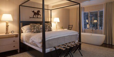 Bed, Wood, Product, Lighting, Room, Bedding, Interior design, Bedroom, Property, Bed sheet,