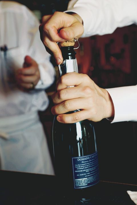 Image result for how to open champagne safely