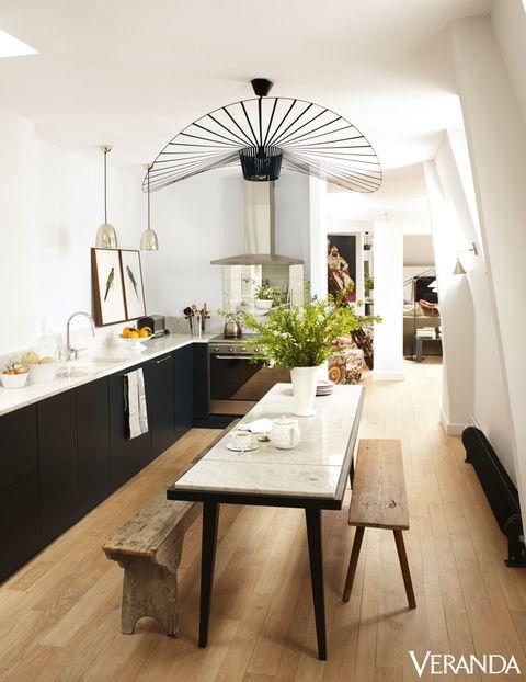 Wood, Interior design, Floor, Room, Flooring, Table, Ceiling, Furniture, Light fixture, Interior design,