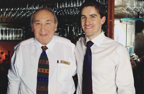Ritz-Carlton Head Barman Norman Bukofzer and Town & Country Associate Editor Sam Dangremond