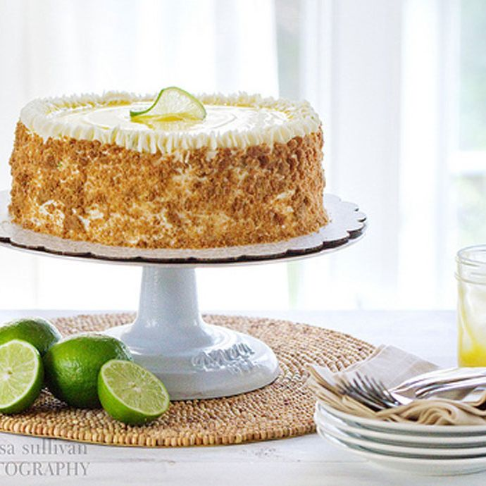 """<p>Silky-sweet lime curd is sandwiched between lime-flavored white cake and topped with a Swiss meringue buttercream. To keep that pie-crust texture, crumble toasted graham crackers on the outside.</p><p>Get the recipe at <a target=""""_blank"""" href=""""http://cravingchronicles.com/2012/04/17/key-lime-pie-cake/"""">Craving Chronicles</a>.</p><p><strong>RELATED:</strong> <a target=""""_blank"""" href=""""http://www.countryliving.com/food-drinks/g745/homemade-cake-recipes-0309/"""">55 Classic Homemade Cake Recipes</a></p>"""