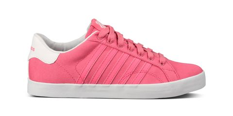 Footwear, Shoe, Product, Brown, Red, Magenta, White, Pink, Style, Line,