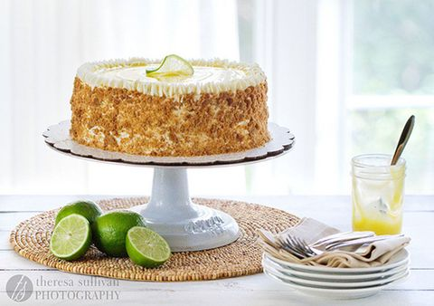"<p>Silky-sweet lime curd is sandwiched between lime-flavored white cake and topped with a Swiss meringue buttercream. To keep that pie-crust texture, crumble toasted graham crackers on the outside.</p> <p>Get the recipe at <a target=""_blank"" href=""http://cravingchronicles.com/2012/04/17/key-lime-pie-cake/"">Craving Chronicles</a>.</p> <p><strong>RELATED:</strong> <a target=""_blank"" href=""http://www.countryliving.com/food-drinks/g745/homemade-cake-recipes-0309/"">55 Classic Homemade Cake Recipes</a></p>"