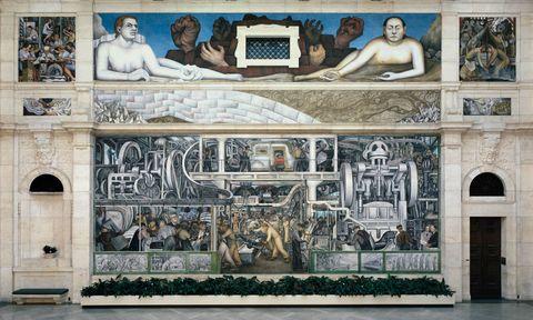 Detroit Industry, north wall (detail), Diego Rivera, 1932-33, fresco. Detroit Institute of Arts