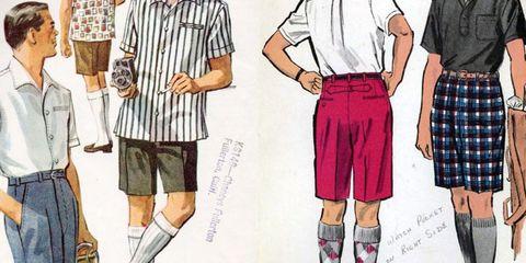 bermuda shorts 1950s illustration