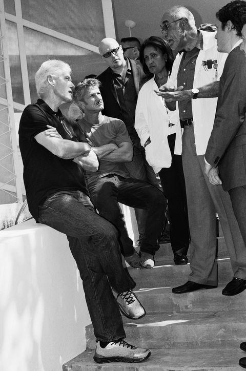 Bill Clinton, Sean Penn, Philanthropy
