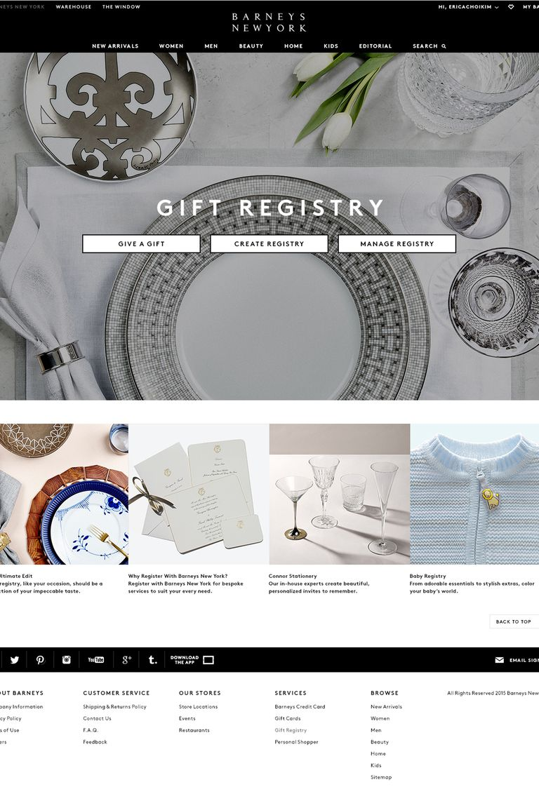 Barney\'s New York Re-launches Gift Registry