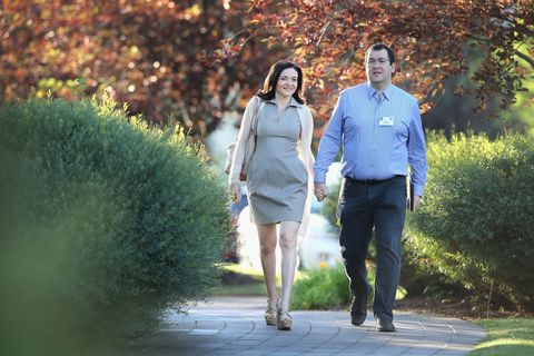 Sheryl Sandberg and Dave Goldberg at Allen & Co.'s annual Sun Valley Conference.