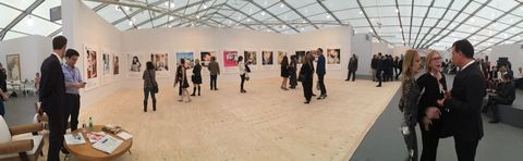 The Richard Prince Instagram series at Gagosian Gallery's booth at the Frieze Art Fair, on Randall's Island.