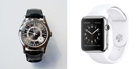 Apple Watch And Patek Philippe Watch