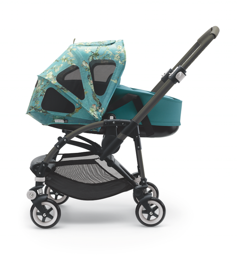 Product, Baby carriage, Baby Products, Teal, Turquoise, Pattern, Aqua, Azure, Rolling, Silver,