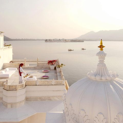 "Ampersand Travel is offering those with the funds the chance to reign over three of India's most fabled, fit-for-royalty estates: the Lake Palace in Udaipur (above), Umaid Bhawan Palace in Jodhpur and Rambagh Palace in Jaipur. The trip includes three nights at every palace, with exclusive use of each.  <em>The King of the Castle </em>package costs from $1,670,200 with Ampersand Travel, <a target=""_blank"" href=""http://ampersandtravel.com"">ampersandtravel.com</a>."