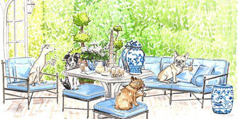 Flowerpot, Art, Painting, Illustration, Drawing, Felidae, Herb, Paint, Artwork, Houseplant,