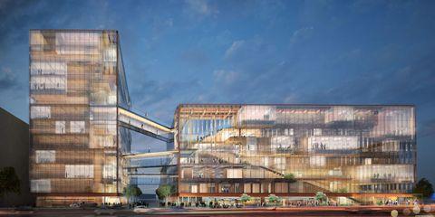 Facade, Commercial building, Mixed-use, Urban area, Metropolitan area, Urban design, Headquarters,