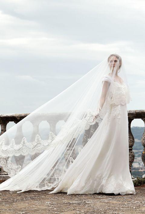 Clothing, Photograph, Dress, Bridal clothing, Wedding dress, Bride, Beauty, Gown, Flash photography, Veil,