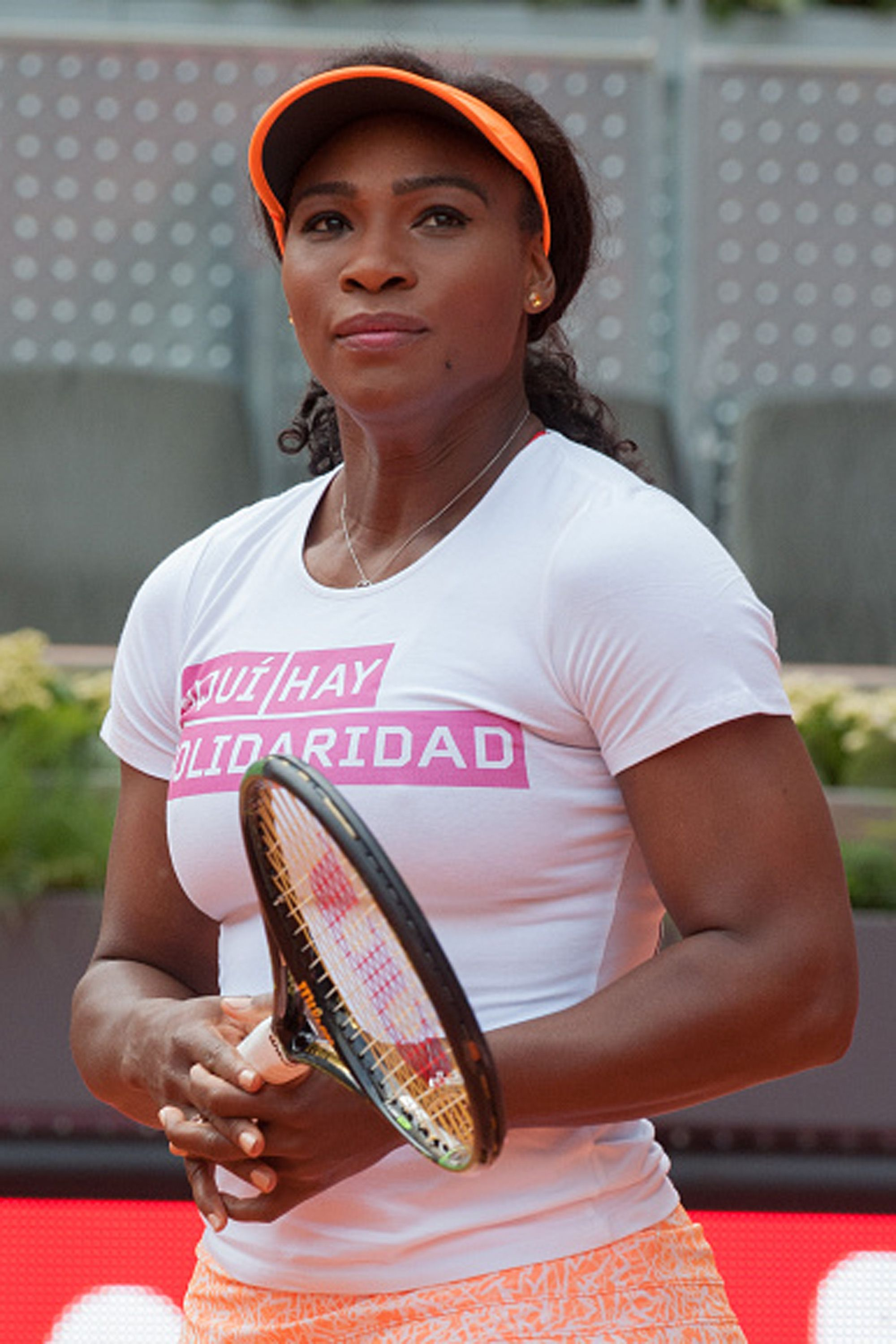 MADRID, SPAIN - MAY 01:  Serena Williams during a charity event held on the ocassion of the Mutua Madrid Open tennis tournament on May 1, 2015 in Madrid, Spain.  (Photo by Europa Press/Europa Press via Getty Images)