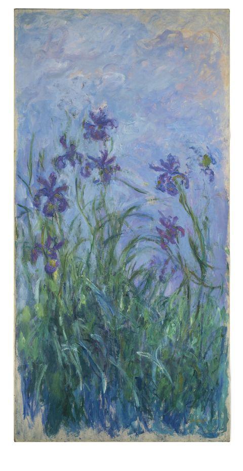 Blue, Flower, Purple, Lavender, Flowering plant, Botany, Art, Paint, Wildflower, Art paint,
