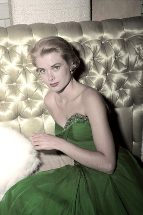 american actress grace kelly 1929   1982 wearing a green dress for st patrick's day, 1954 photo by gene lestergetty images