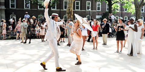 Crowd, Pedestrian, Street fashion, Pole, Walking, Tradition, Dance, Festival, Street performance,