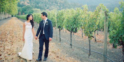 Coat, Dress, Trousers, Photograph, Suit, Agriculture, Outerwear, Bridal clothing, Bride, Wedding dress,