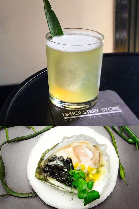 Green, Liquid, Dishware, Ingredient, Drink, Alcoholic beverage, Serveware, Food, Tableware, Cocktail,