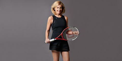 Sports equipment, Lip, Skin, Tennis racket, Elbow, Joint, Sportswear, Tennis, Strings, Racquet sport,