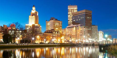 Reflection, Metropolitan area, Tower block, City, Metropolis, Urban area, Waterway, Cityscape, Commercial building, Building,
