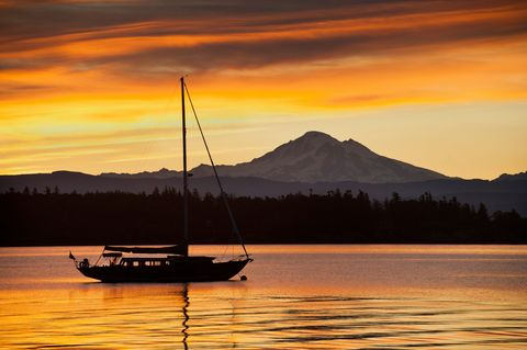 Boat off Lummi Island, Washington