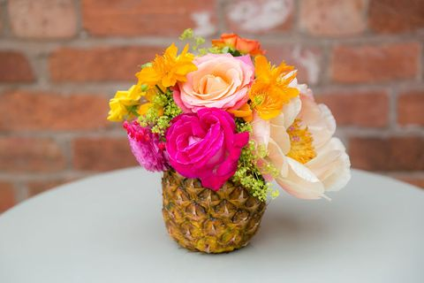 Petal, Yellow, Flower, Bouquet, Brick, Cut flowers, Floristry, Orange, Flowering plant, Brickwork,