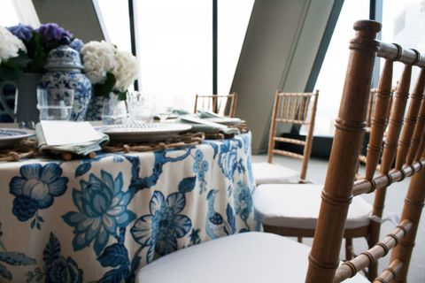 Tablecloth, Textile, Room, Table, Furniture, Interior design, Linens, Home accessories, Centrepiece, Teal,