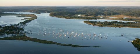 Water, Water resources, Inlet, Sky, River, Waterway, Sea, Estuary, Aerial photography, Coast,
