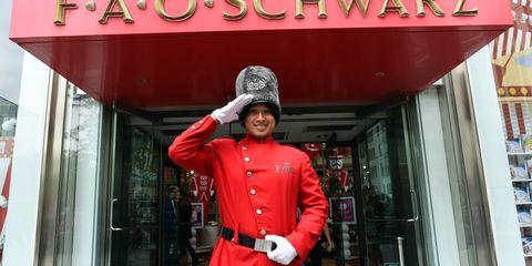 Red, Shelf, Winter, Jacket, Street fashion, Service, Signage, Shelving, Coquelicot, Bookcase,