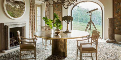 Room, Interior design, Table, Furniture, Floor, Chair, Glass, Interior design, Dining room, Coffee table,
