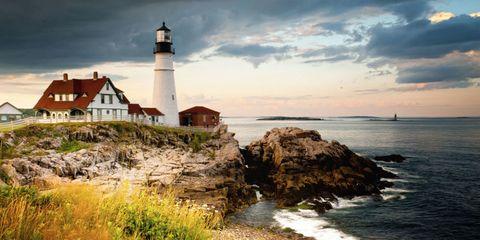 Coastal and oceanic landforms, Tower, Coast, Shore, Beacon, Natural landscape, Ocean, Sea, Promontory, Rock,