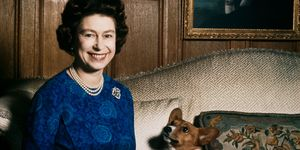 Queen Elizabeth II with one of her corgis